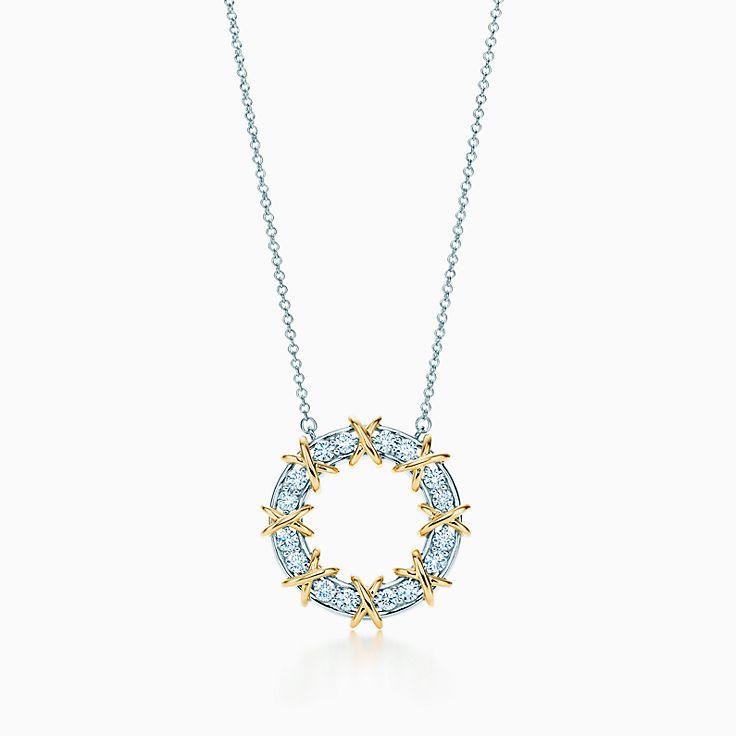 Tiffany & Co. Schlumberger:Sixteen Stone Circle Pendant