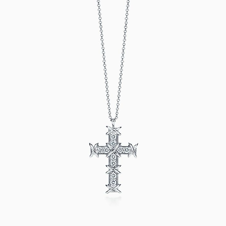 Tiffany & Co. Schlumberger:Ten Stone Cross Pendant