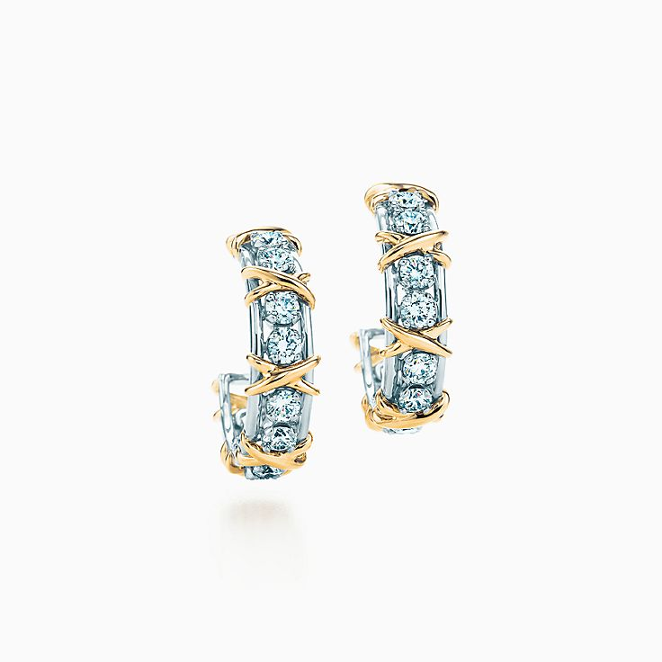 Tiffany & Co. Schlumberger:Twenty Stone Hoop Earrings