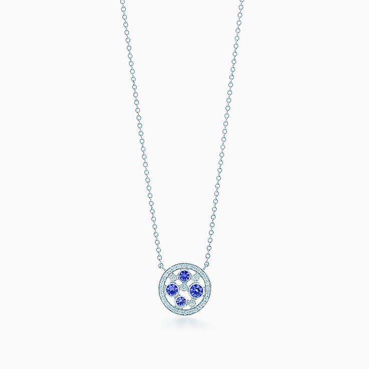 Tiffany Cobblestone:Montana Sapphire Pendant