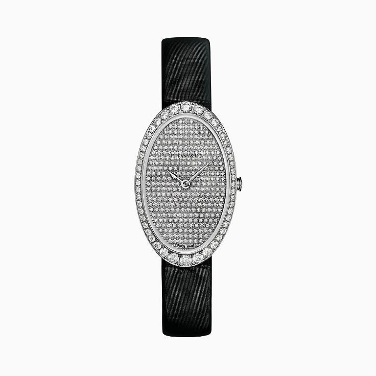 Tiffany Cocktail:Reloj de 21 x 34mm con pavé y 2 manecillas