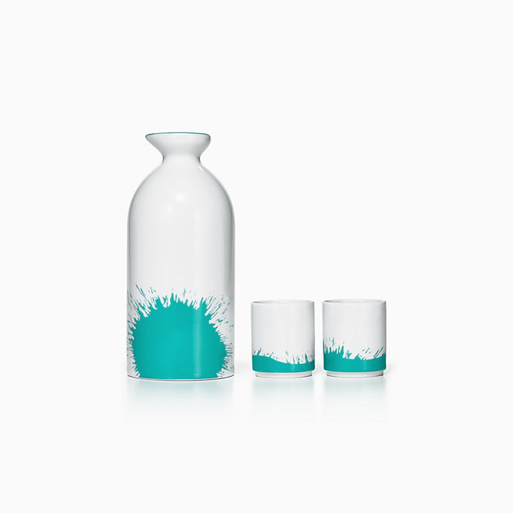 Tiffany colour Splash:Sake Set