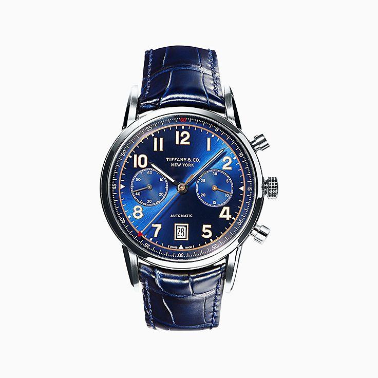 Tiffany CT60®:計時碼錶系列 42 毫米腕錶