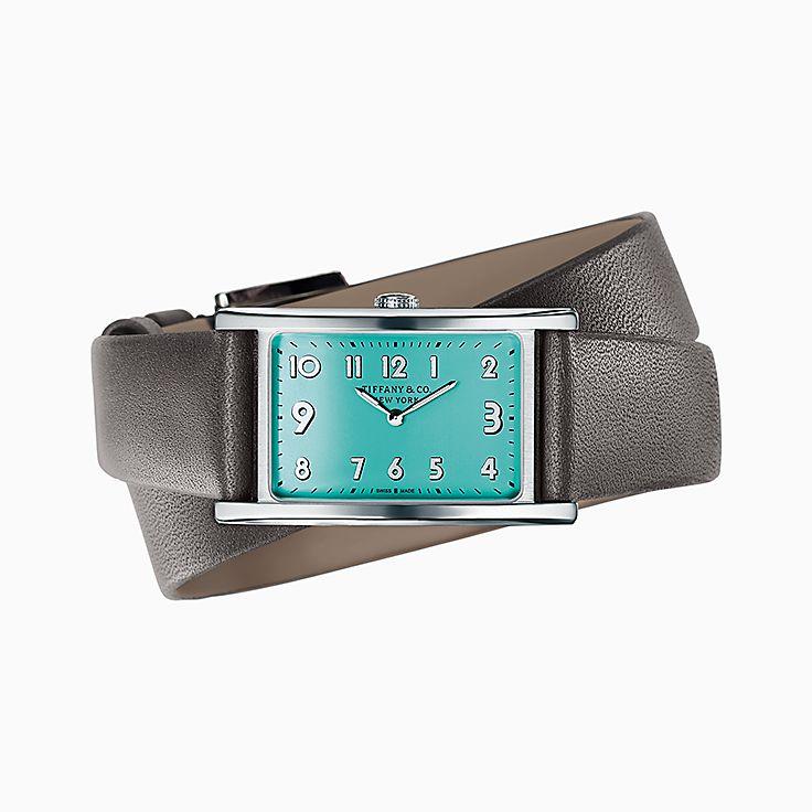 Tiffany East West™:迷你 2-Hand 37 x 22 毫米腕錶