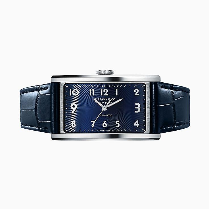 Tiffany East West™ Automatic:3-Hand 46.5 x 27.5 毫米腕錶