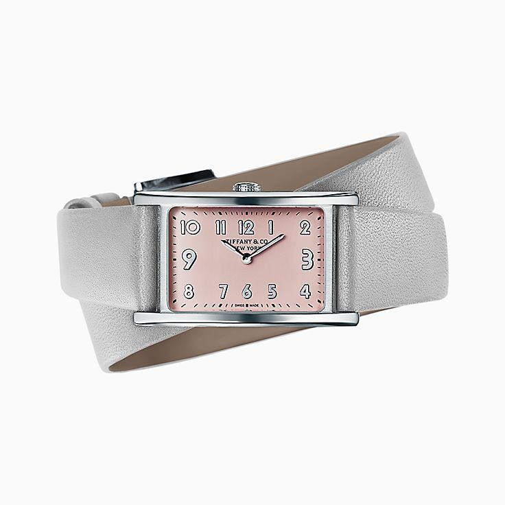 Tiffany East West®:Reloj tamaño mini de 2 manecillas de 37 x 22 mm