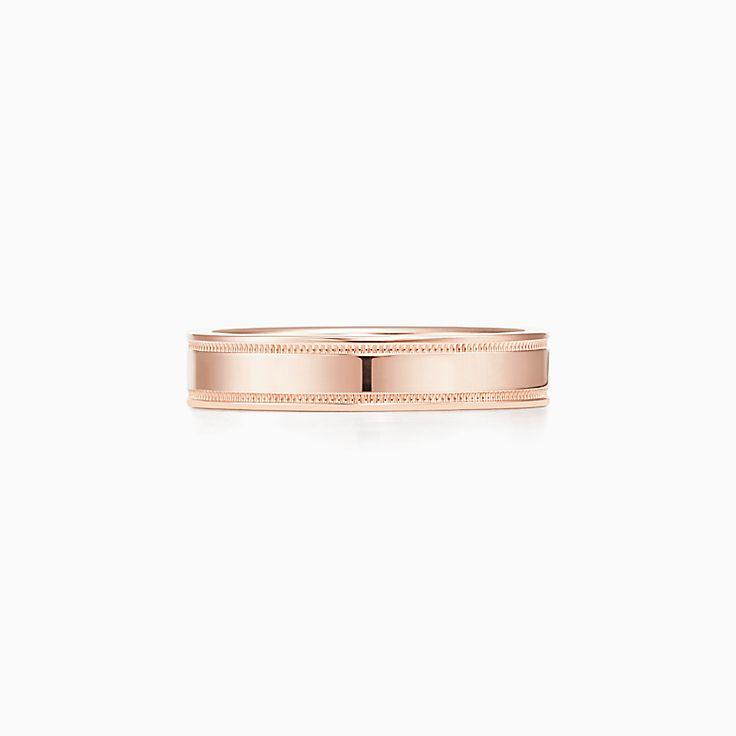 Tiffany Essential Band:雙 milgrain 紋邊戒指