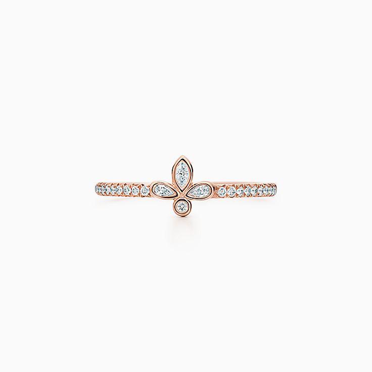Tiffany Fleur de Lis:Band Ring