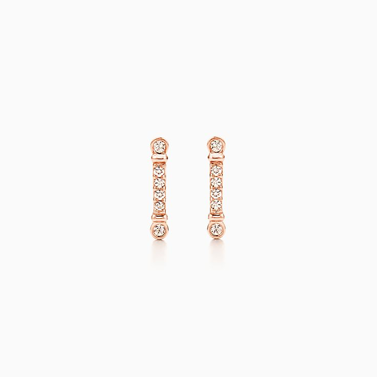 Tiffany Fleur de Lis:Key Bar Earrings