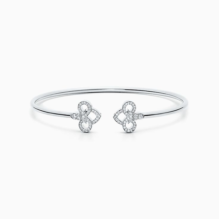 Tiffany Fleur de Lis:Wire Bangle