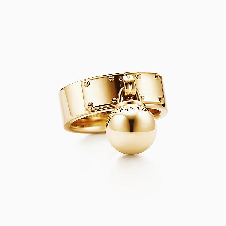 Tiffany HardWear: кольцо с подвеской в форме шара