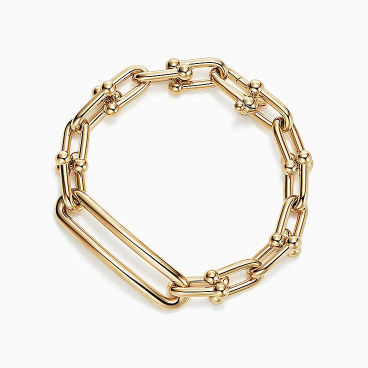 Tiffany HardWear:18K黃金扣環手鏈