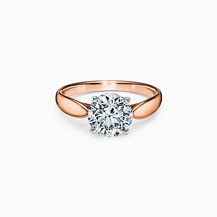 Tiffany Harmony® Round Brilliant Engagement Ring in 18k Rose Gold