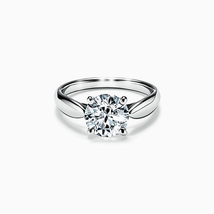 Tiffany Harmony® Round Brilliant Engagement Ring in Platinum