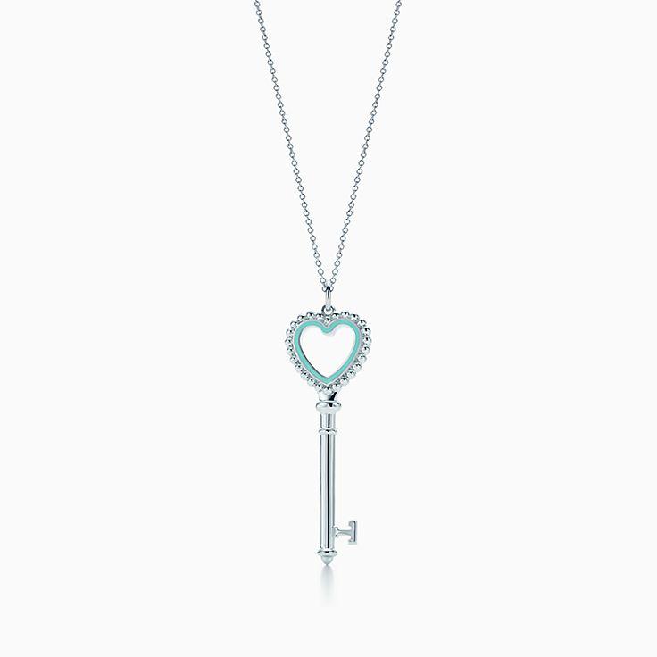 Tiffany Keys:подвеска-ключ с сердцем, украшенным бусинами