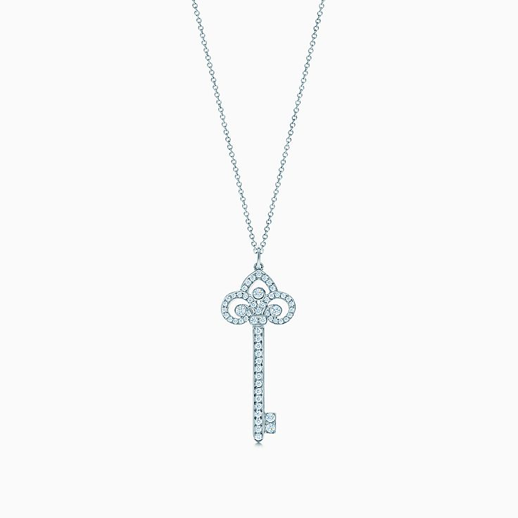 Tiffany Keys:鳶尾花鑰匙鍊墜