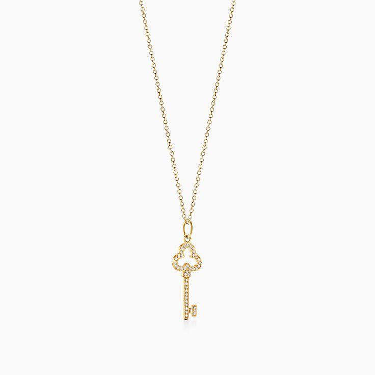 Tiffany Keys:Открытая подвеска-ключ с трилистником