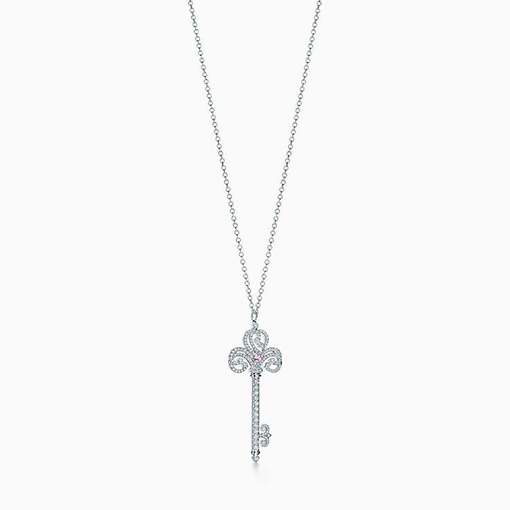 Tiffany Keys:Enchant Heart Key Pendant