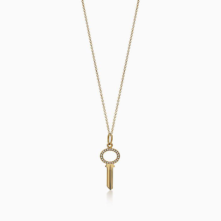 Tiffany Keys:Modern Keys Open Oval Key Pendant
