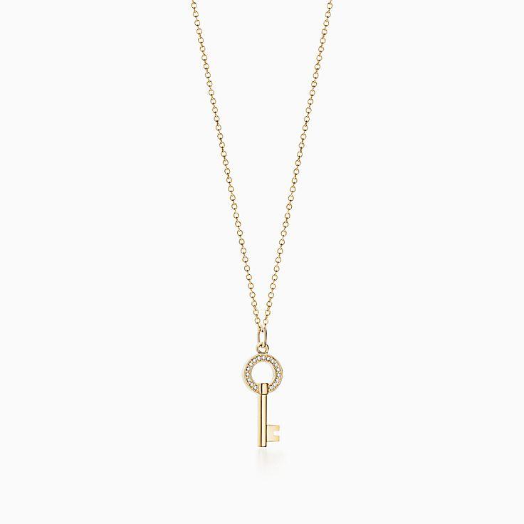 Tiffany Keys:Modern Keys Open Round Key Pendant
