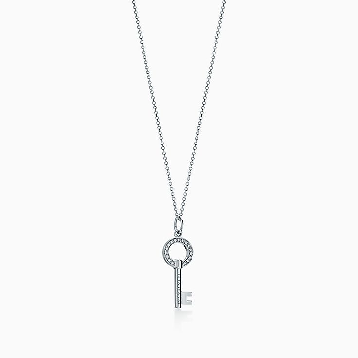 Tiffany Keys:Modern Keys Open Round Key Pendant