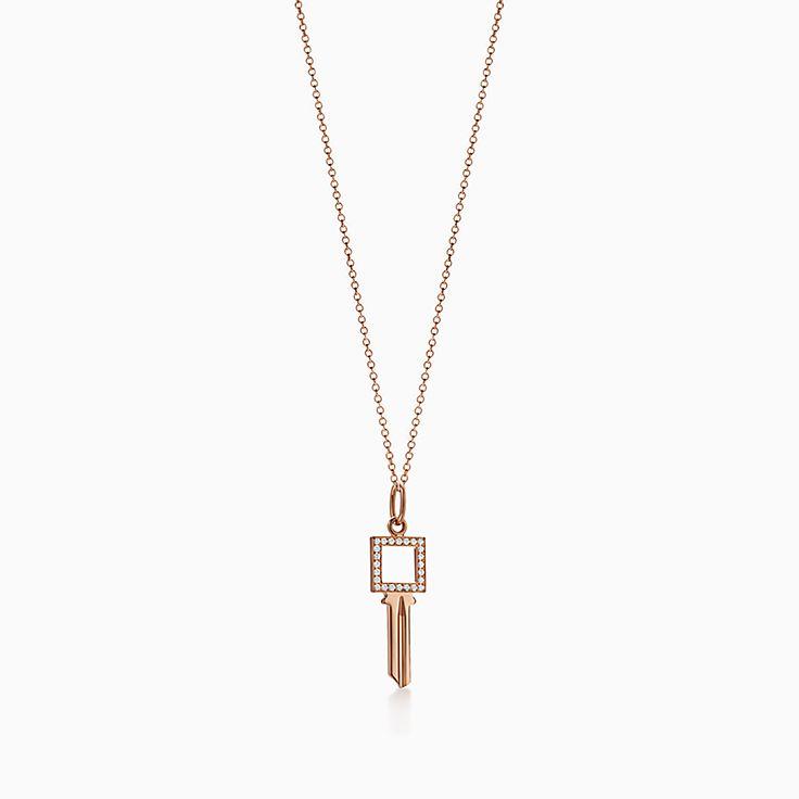 Tiffany Keys:Modern Keys Open Square Key Pendant
