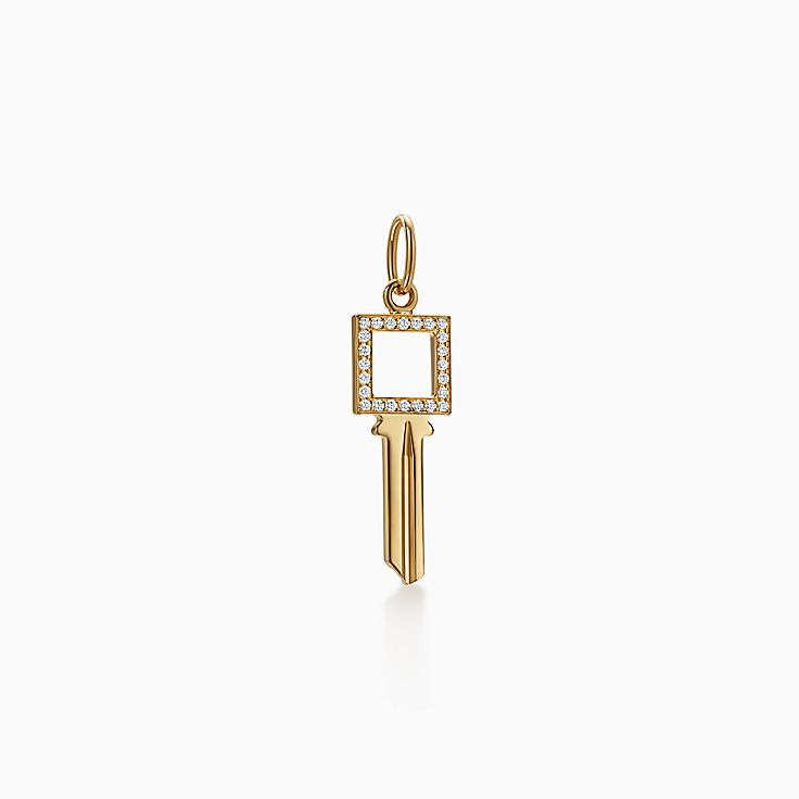Tiffany Keys:Modern Keys Open Square Key Pendant