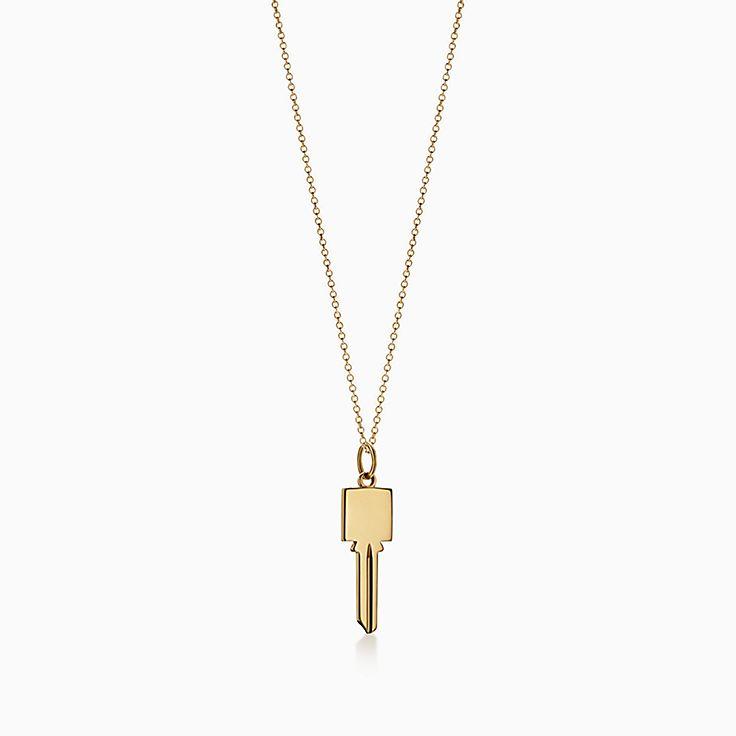 Tiffany Keys:Modern Keys Square Key Pendant