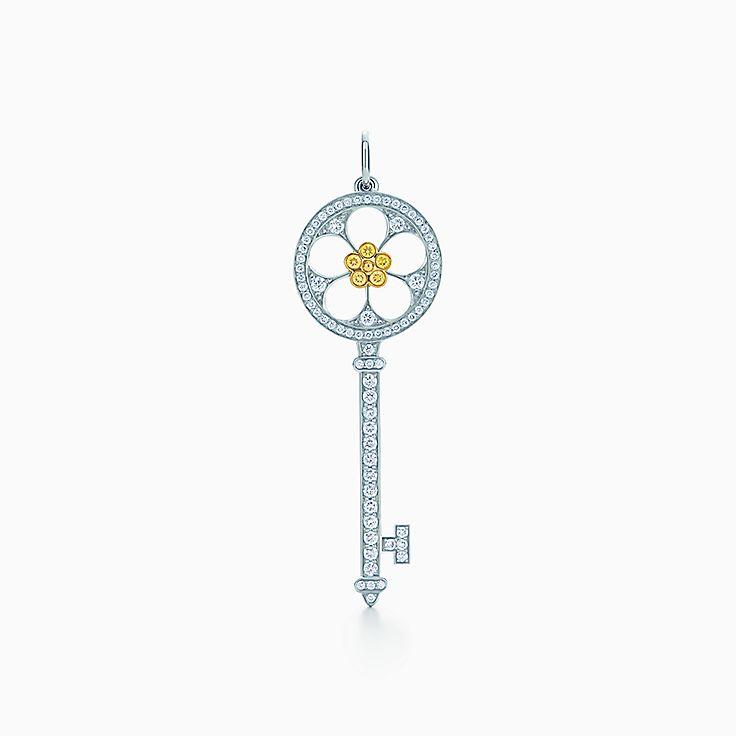 Tiffany Keys:Open Daisy Key Pendant