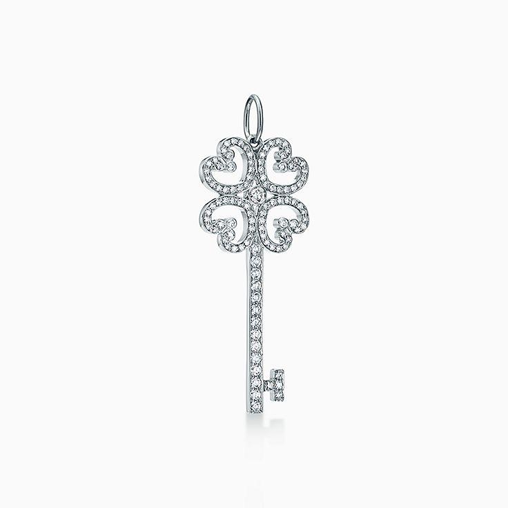 Tiffany Keys:Quatra Heart Key Pendant