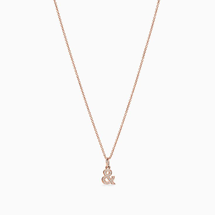 Tiffany & Love:Ampersand Pendant in 18k Rose Gold with Diamonds