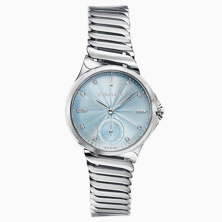 Tiffany Metro:3-Hand 34 毫米腕錶