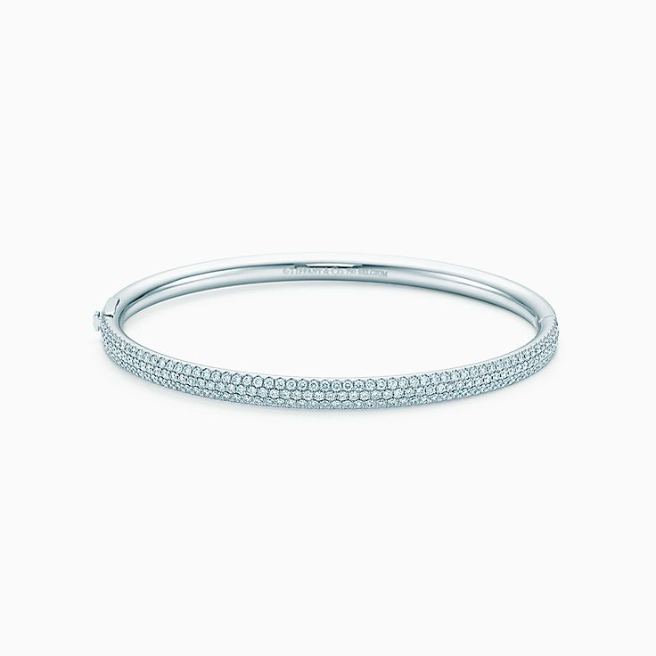 Tiffany Metro:Three-row Hinged Bangle