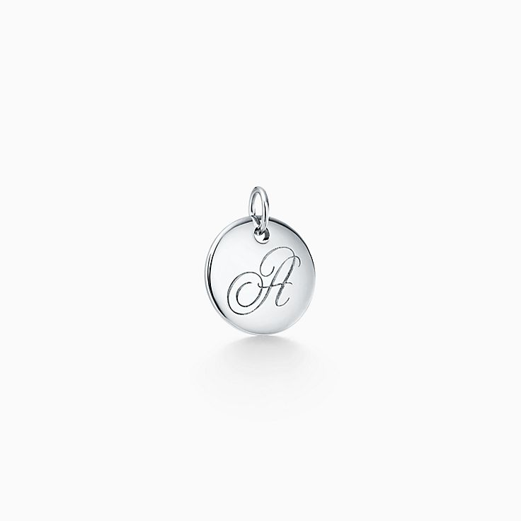 """Tiffany Notes®:Letter """"A"""" Disc Charm"""