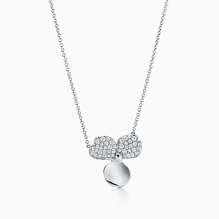 Tiffany Paper Flowers™:다이아몬드 플라워 펜던트