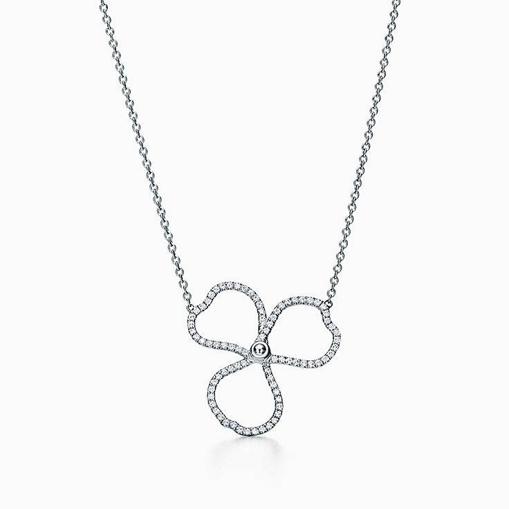 Tiffany Paper Flowers:鑽石鏤空花簇鏈墜