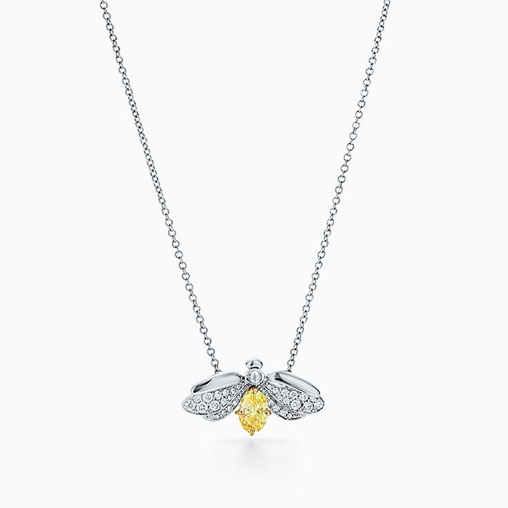 Tiffany Paper Flowers™:옐로우 다이아몬드 파이어플라이 펜던트