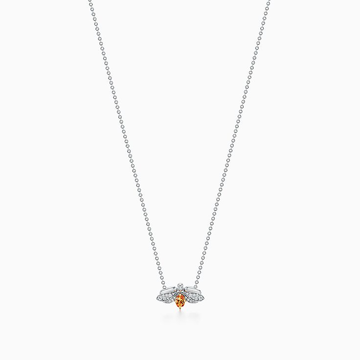 Tiffany Paper Flowers:錳鋁榴石螢火蟲鏈墜