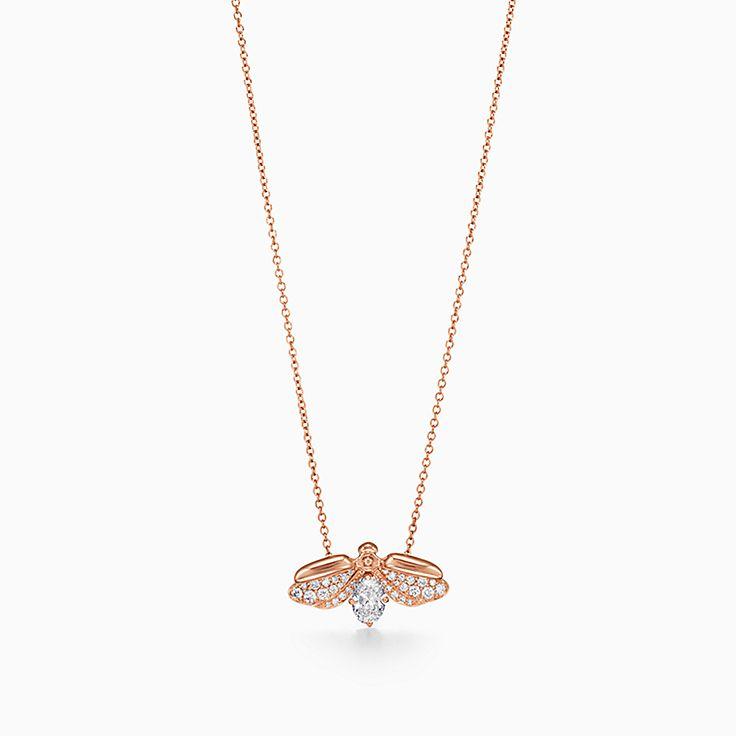 Tiffany Paper Flowers™:다이아몬드 파이어플라이 펜던트