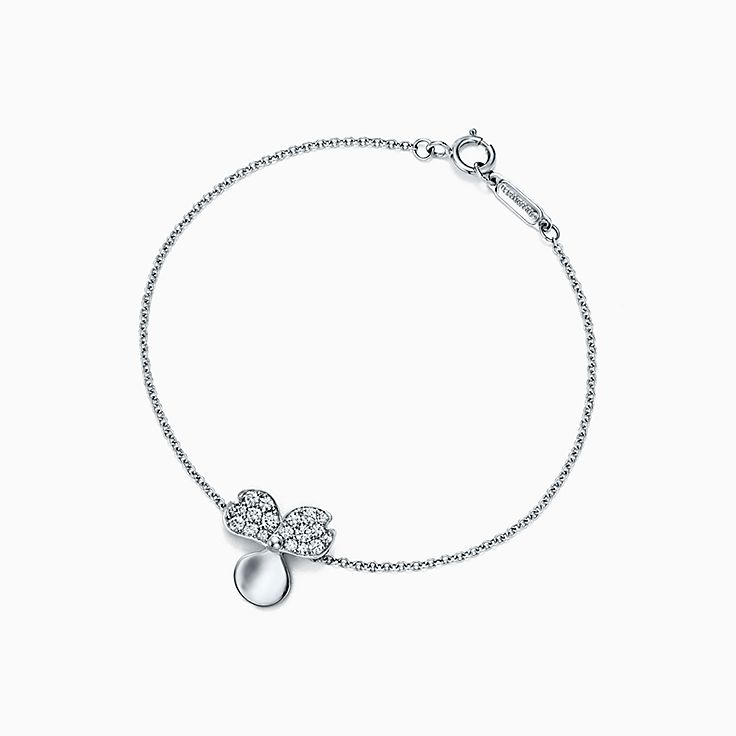 Tiffany Paper Flowers®:Brazalete de flor de diamantes
