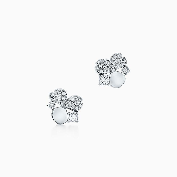 Tiffany Paper Flowers™:Brincos Cluster com diamante