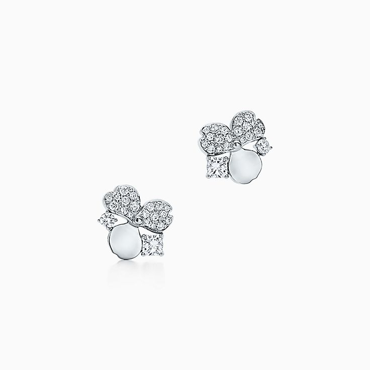 Tiffany Paper Flowers®:Diamond Cluster Earrings