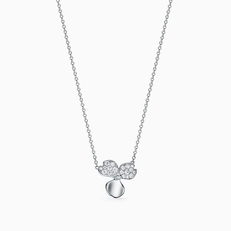 Tiffany Paper Flowers®:Diamond Flower Pendant