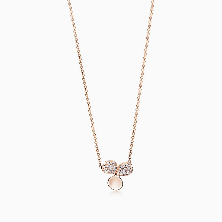 Tiffany Paper Flowers®:Diamond Flower Pendant