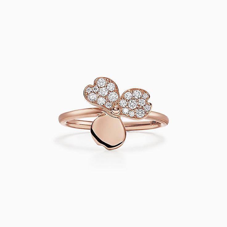 Tiffany Paper Flowers:Diamond Flower Ring