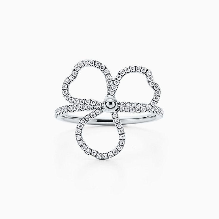Tiffany Paper Flowers:Diamond Open Flower Ring