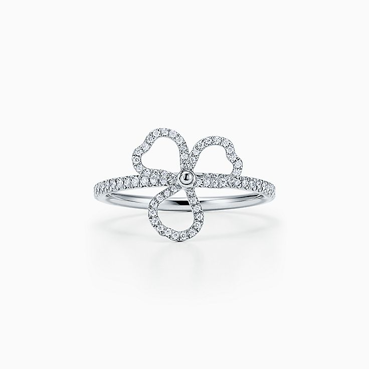 Tiffany Paper Flowers®:Diamond Open Flower Ring