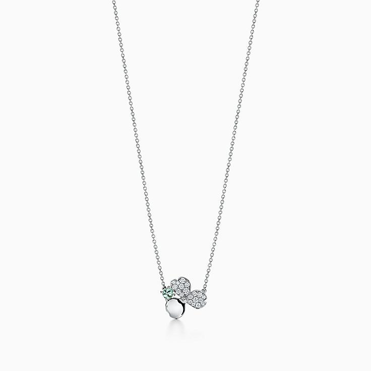 Tiffany Paper Flowers®:Green Tourmaline Flower Pendant