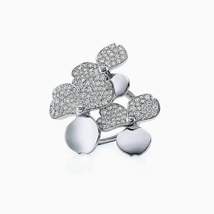 TiffanyPaperFlowers(MC):Bague Bouquet à diamants