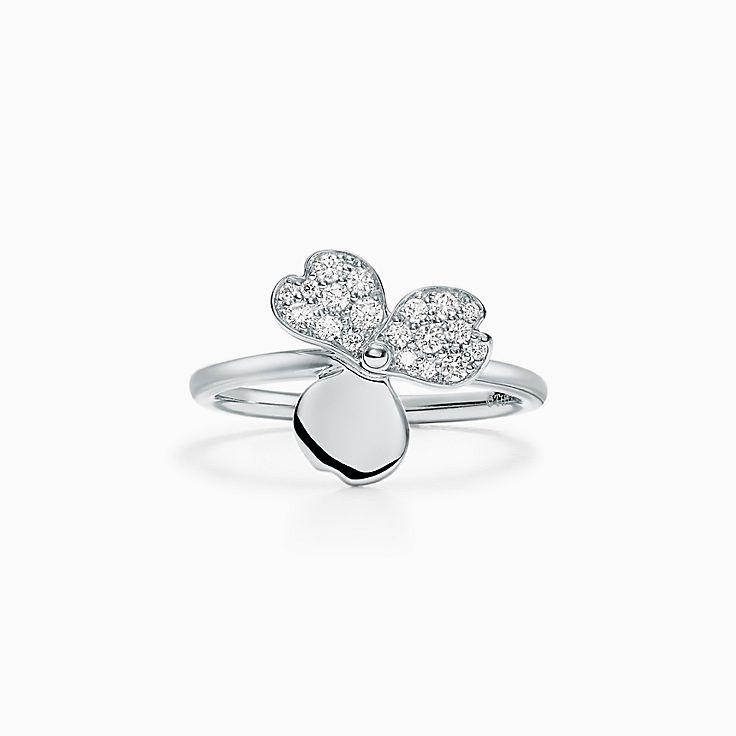 TiffanyPaperFlowers(MC):Bague Fleur à diamants